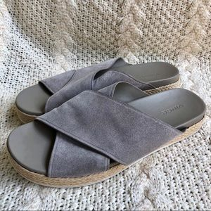 56473055cdc5 Vince Shoes - Vince Criss Cross Suede Espadrilles Slides Slip On